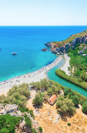 Preveli: Město na Krétě okouzlí karibskou pláží i starým klášterem