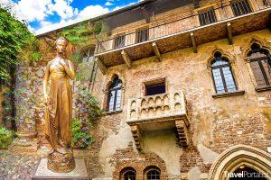 Juliin dům a socha Julie