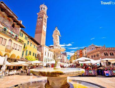 Piazza delle Erbe ve městě Verona