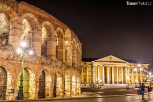 aréna a palác Barbieri ve městě Verona