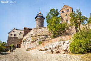 hrad ve městě Norimberk