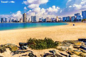 pláž v emirátu Sharjah