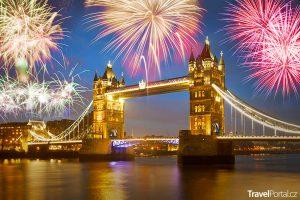 ohňostroj v Londýně