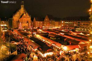 vánoční trhy ve městě Norimberk