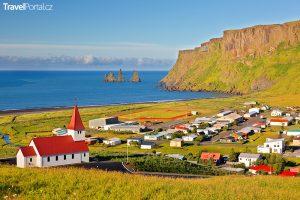 vesnice Vik na Islandu
