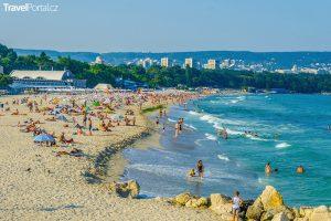 pláž ve městě Varna