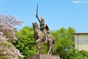 pomník cara Kalojana ve městě Varna