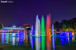 zpívající fontány ve městě Plovdiv