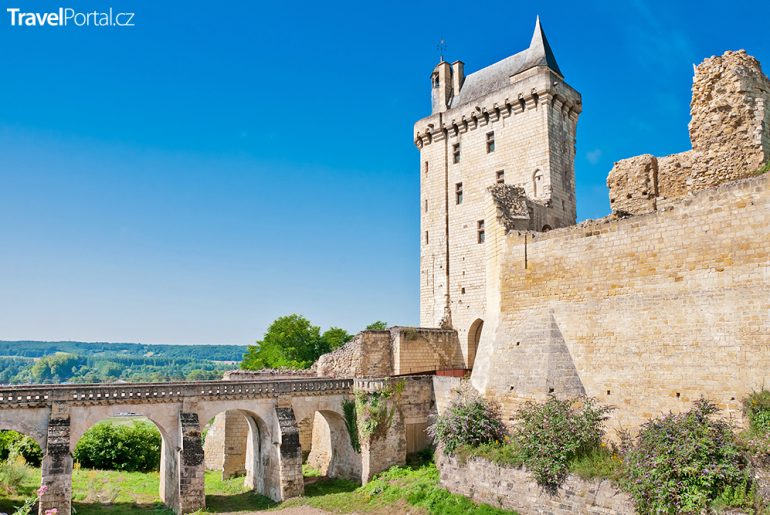 část hradu Chinon