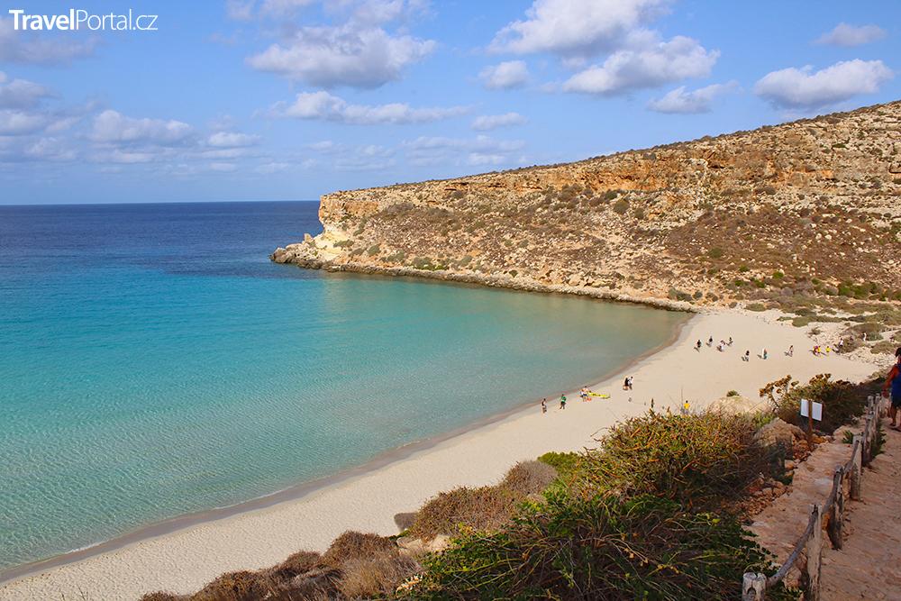 Spiaggia dei Conigli na ostrově Lampedusa