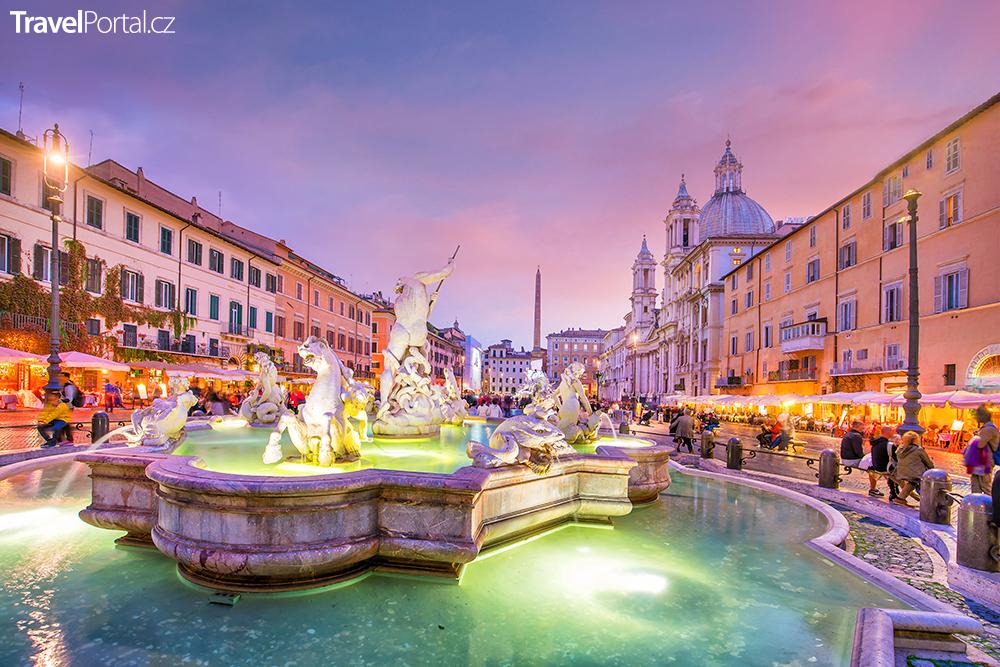 Piazza Navona v Římě