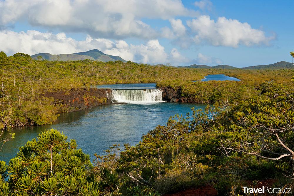 vodopády Madeleine na ostrově Nová Kaledonie