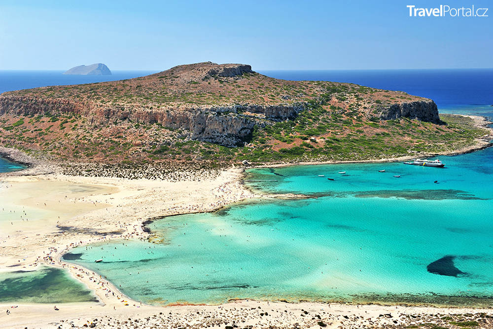 Pláž Balos na řeckém ostrově Kréta