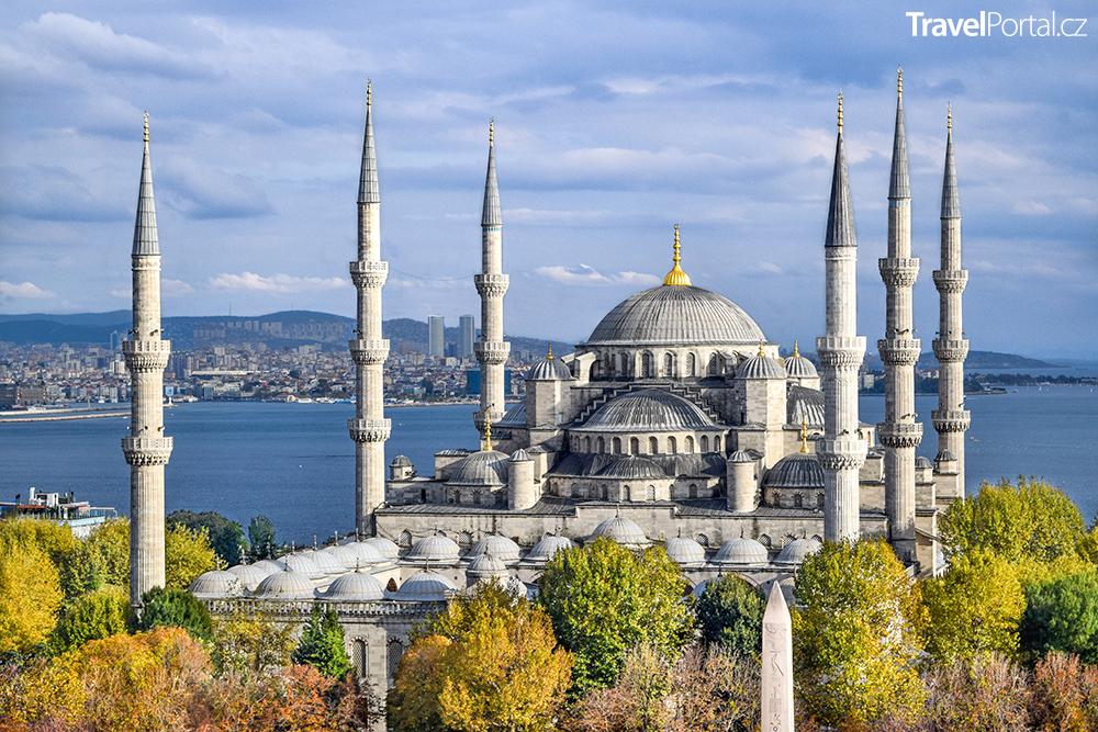 Modrá mešita ve městě Istanbul