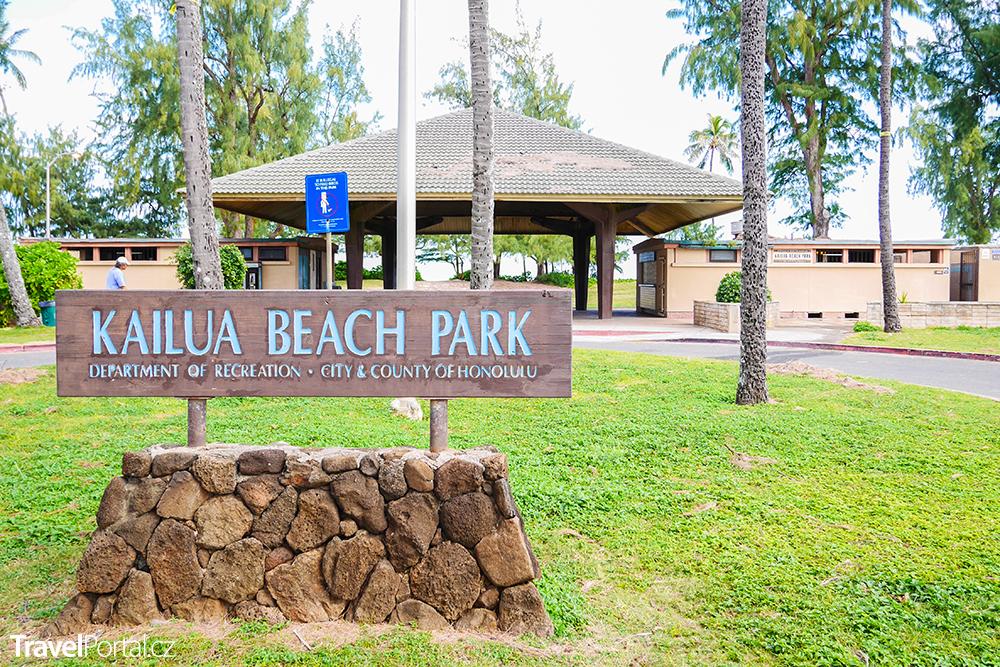 Kailua Beach Park na ostrově Oahu