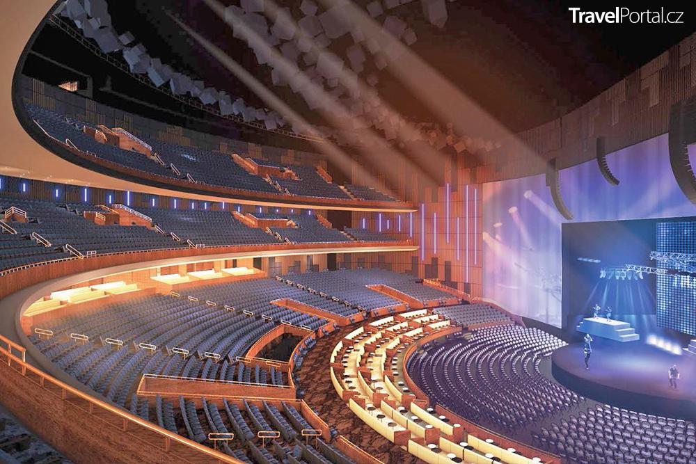 koncertní hala vizualizace