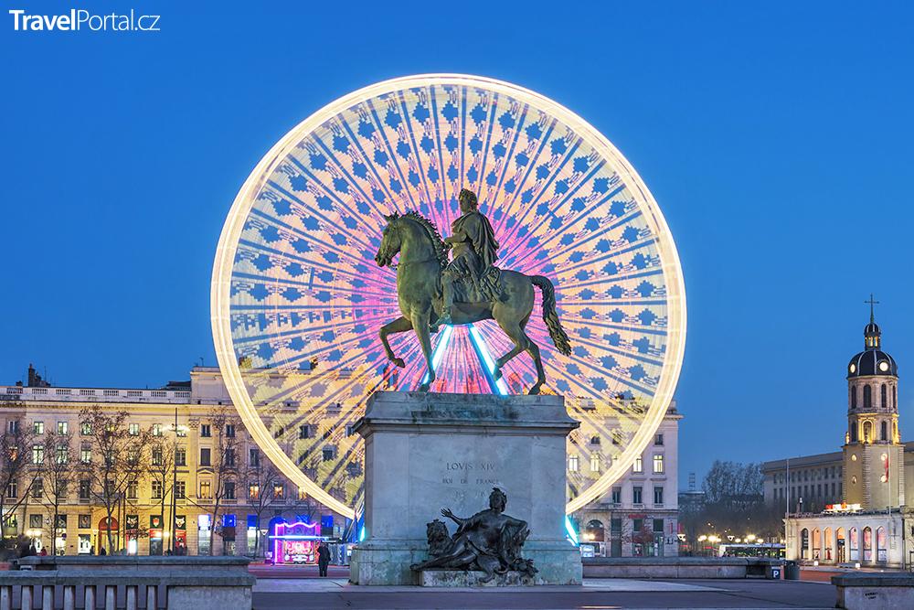 náměstí Bellecour v Lyonu