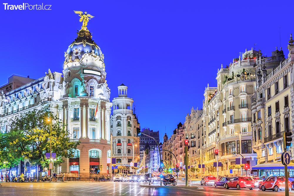 večerní Madrid