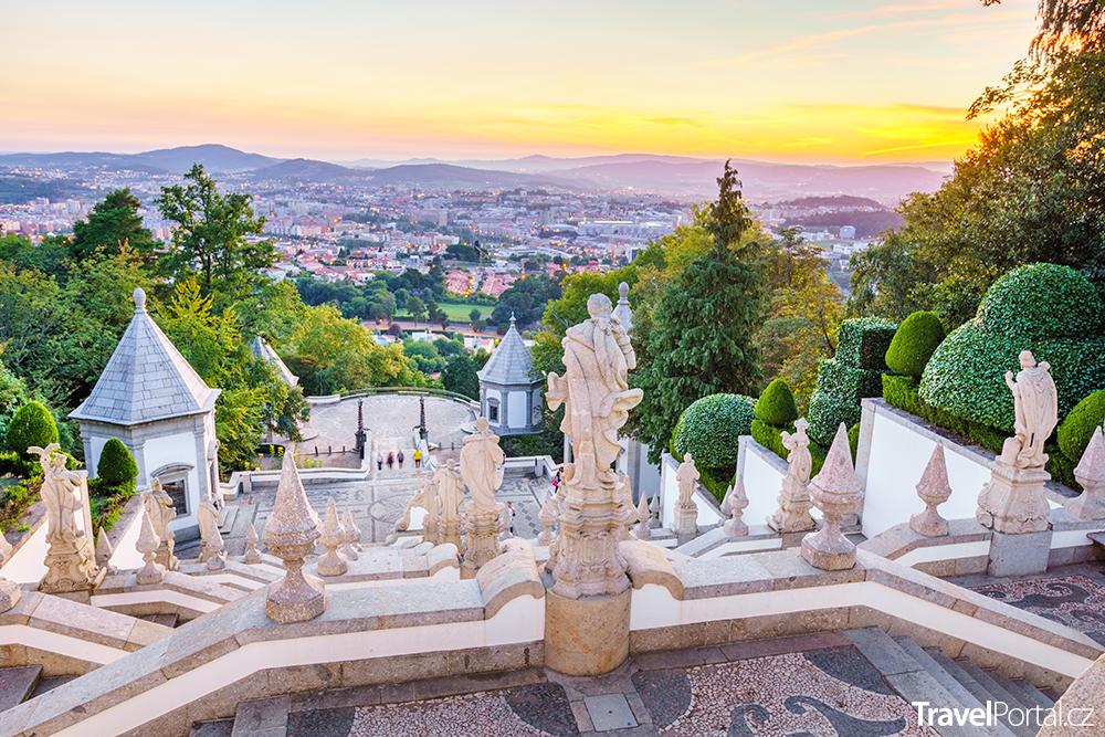 výhled na město Braga