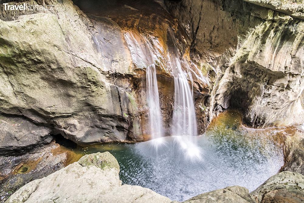 vodopády ve Škocjanských jeskyních