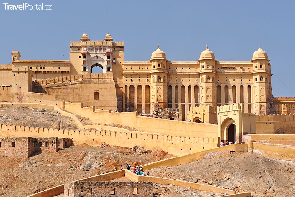 Amber Fort u města Jaipur