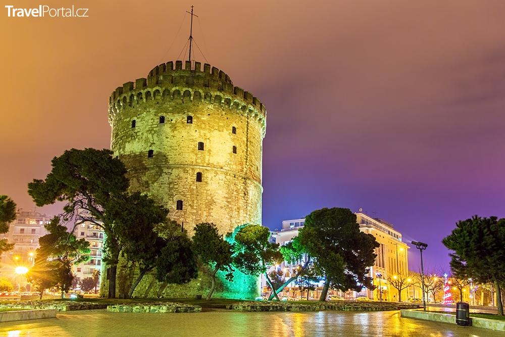 Bílá věž ve městě Soluň