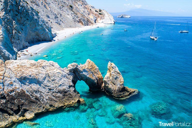 pláž Lalaria na ostrově Skiathos