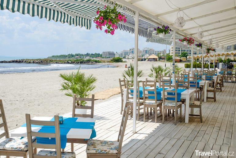 plážová restaurace v Pomorie