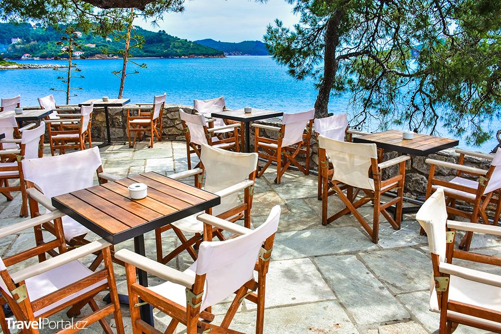 taverna na ostrově Skiathos