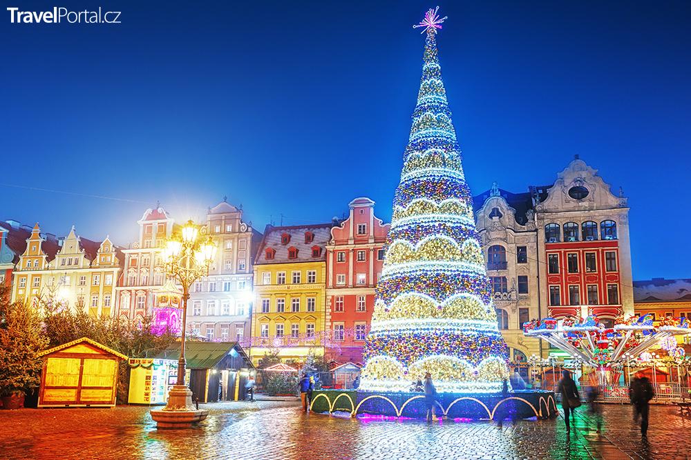 vánoční trhy ve městě Wrocław