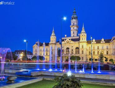 radnice ve městě Győr