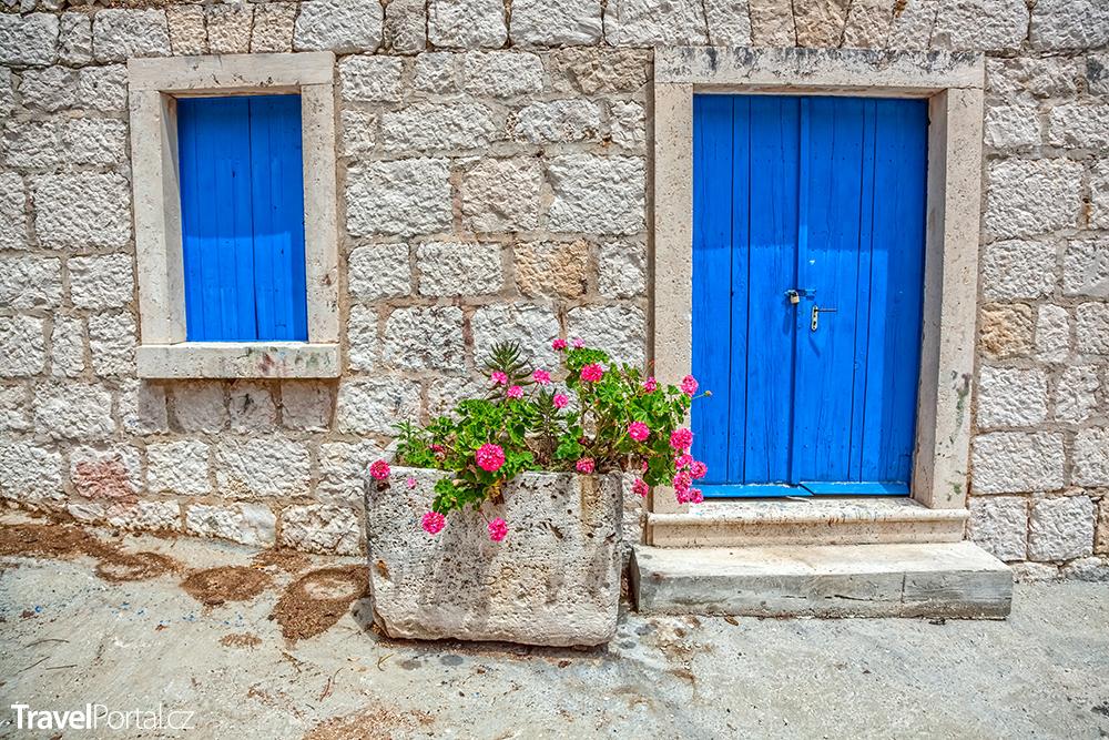 tradiční dům na ostrově Mljet