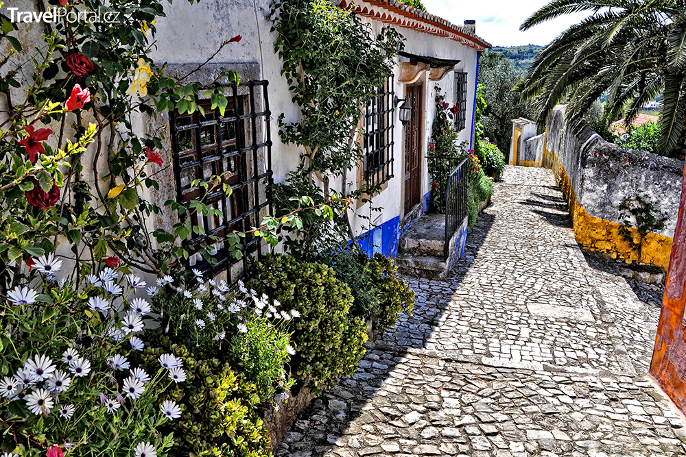 ulice města Óbidos