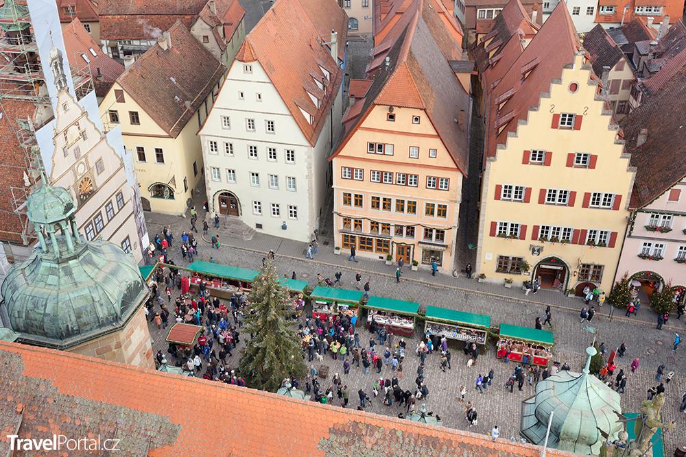 Christmas Market ve městě Rothenburg ob der Tauber