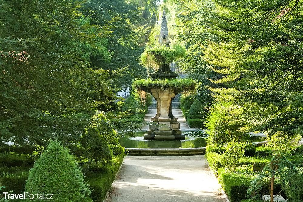 botanická zahrada ve městě Coimbra