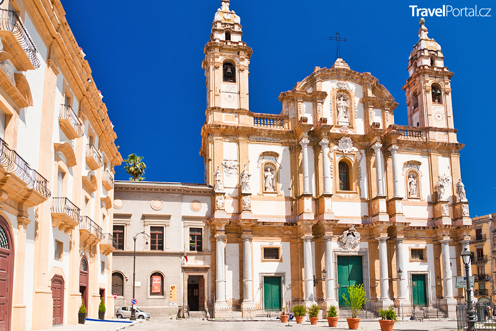kostel svatého Dominika ve městě Palermo