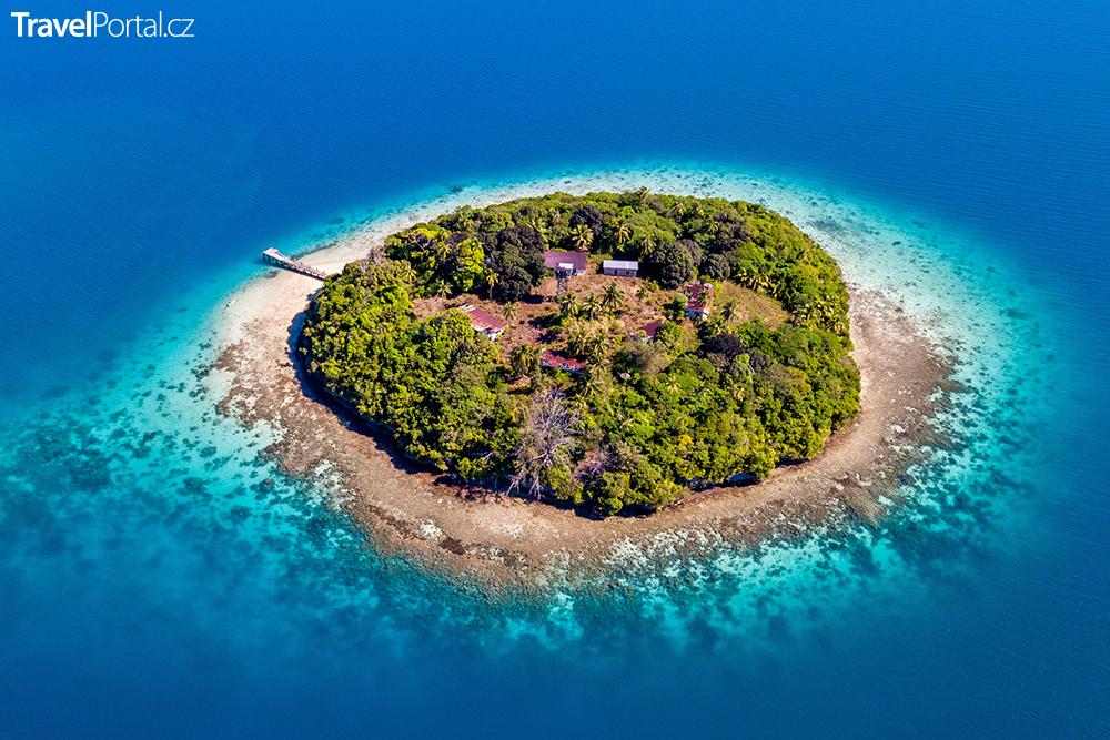 miniaturní ostrov v Království Tonga