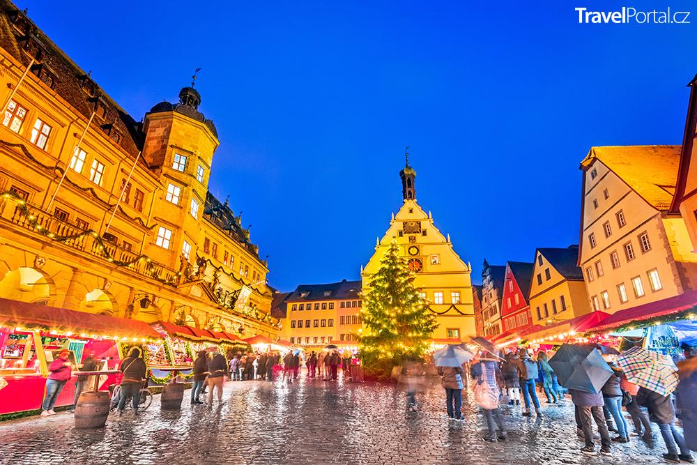vánoční trhy ve městě Rothenburg ob der Tauber