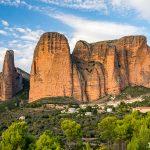 Mallos de Riglos ve španělské oblasti Aragonie