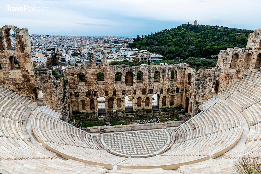amfiteátr Odeon neboli Herodes Attikos ve městě Athény