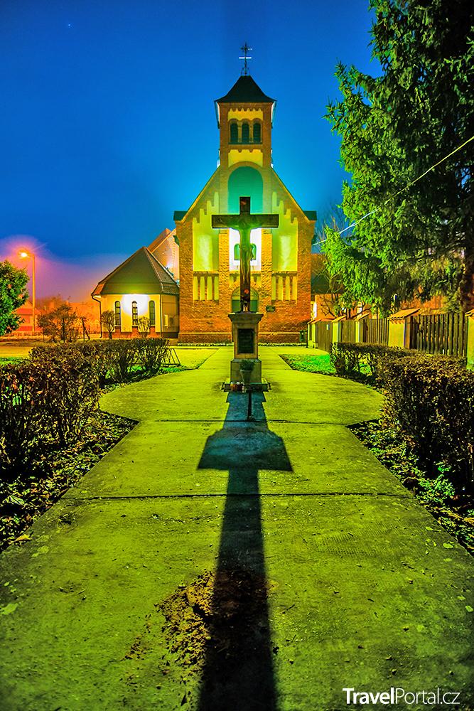kostel ve městě Harkány