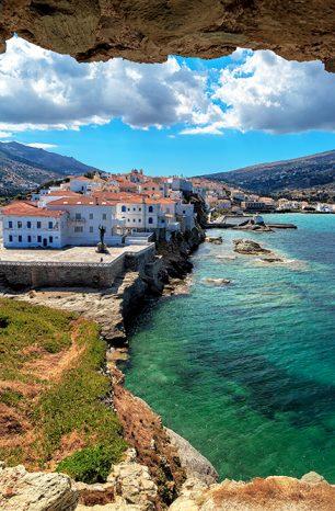 Andros: Malebný řecký ostrov v Kykladech má 99 pláží