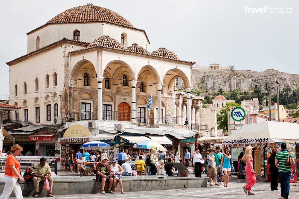 náměstí Monastiraki ve městě Athény