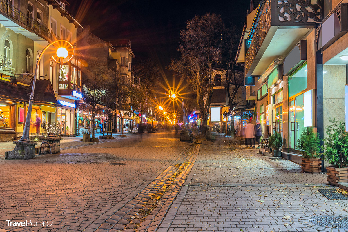 ulice Krupowki ve městě Zakopane