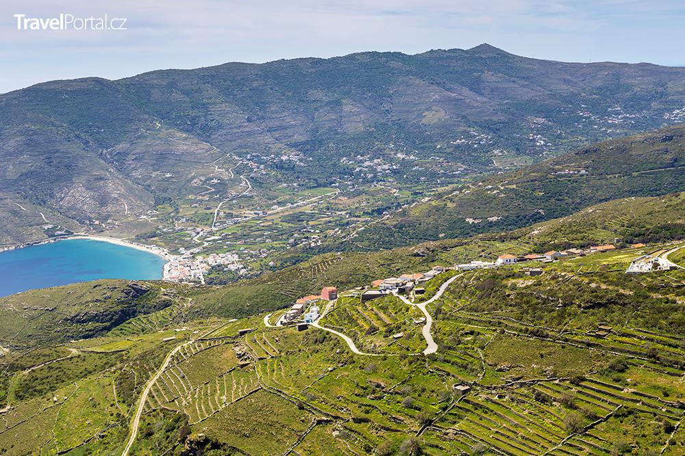 vesnice Kochylos na ostrově Andros