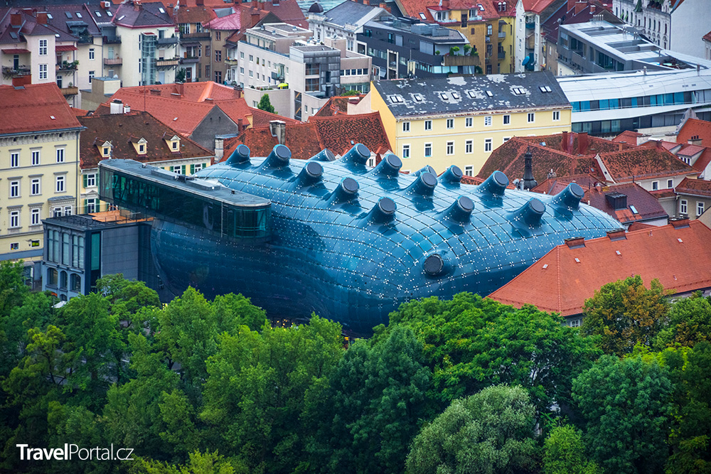 Dům umění ve městě Graz