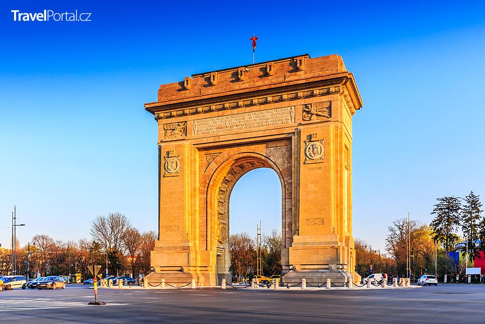 Vítězný oblouk ve městě Bukurešť