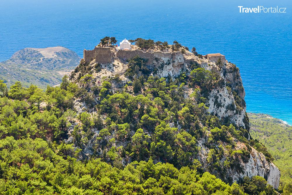 hrad Monolithos na ostrově Rhodos