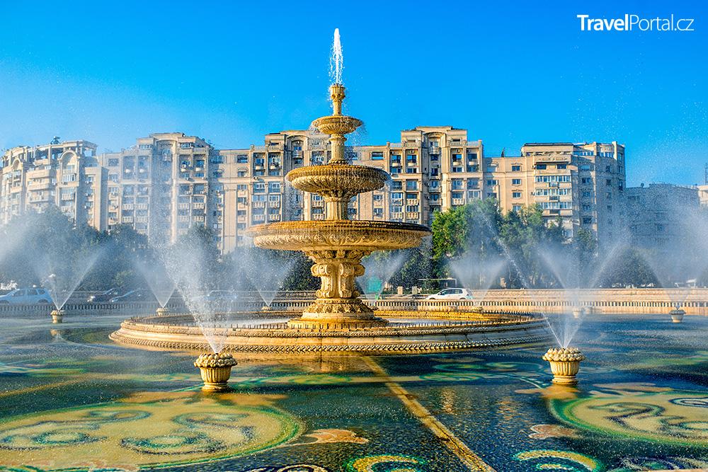 městská fontána ve městě Bukurešť
