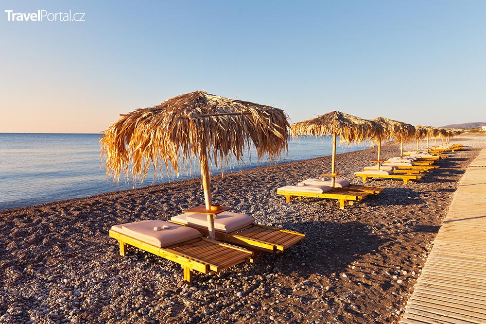 pláž v letovisku Kiotari na ostrově Rhodos